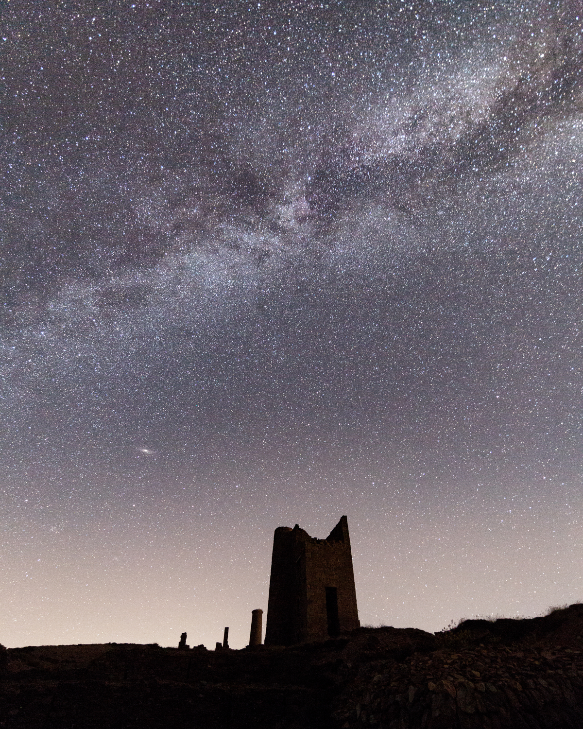 Milkyway over Wheal Coates tin mine