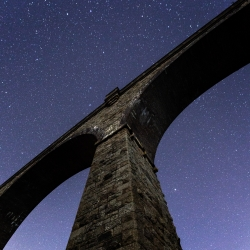 Stars above Carnon viaduct