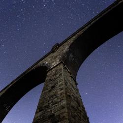 Stars above Carnon viaduct