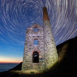 Star trail at Towanroath engine house