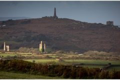 Wheal Uny catching a break in the early morning cloud with Carn Brea as a back drop.  One of the many great views from Carn Marth.