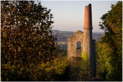 A dominant feature of Carn Marth as you approach from Lanner.  This view as I walked down the hill caught my eye as the mine basked in the morning sun.