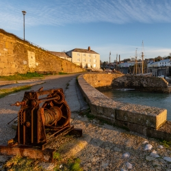 Sunrise at Charlestown harbour, Cornwall