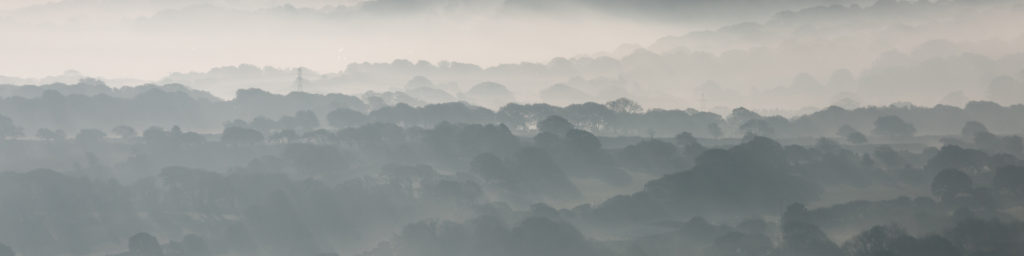 Fog in the valleys as seen from Carn Marth