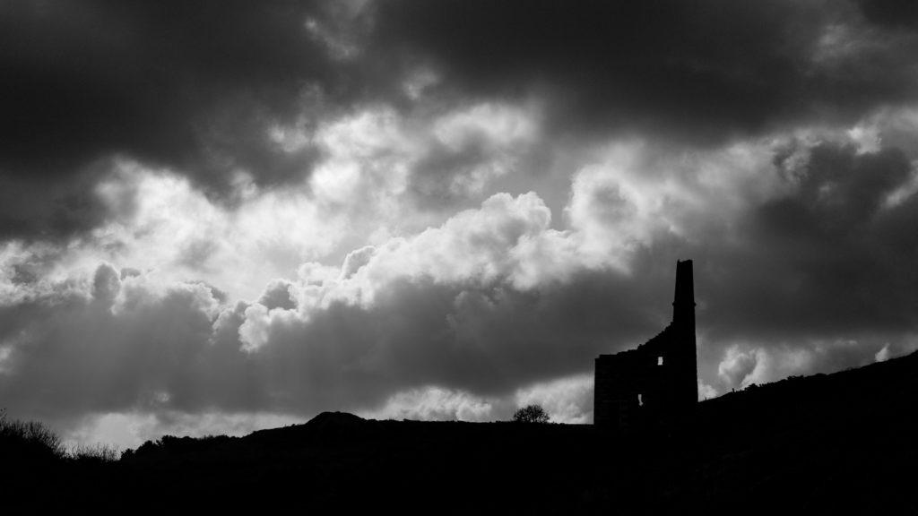 Tin mine and dramatic skies