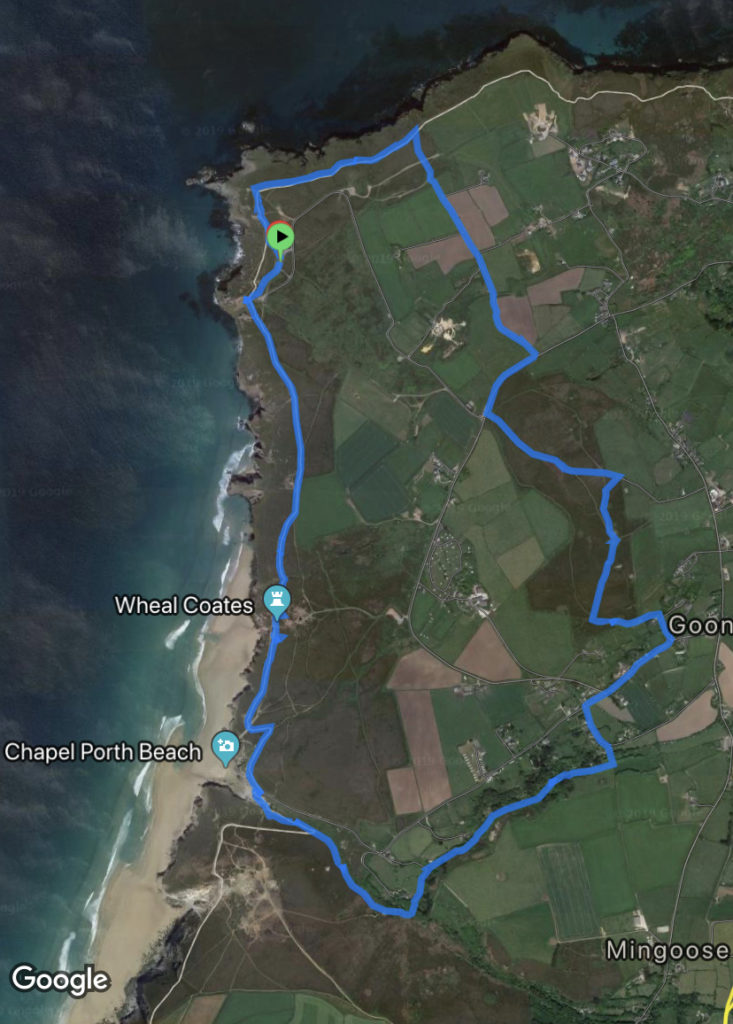Map of walk around St. Agnes and Beacon